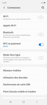 Samsung Galaxy S20 FE - Internet et connexion - Désactiver la connexion Internet - Étape 5