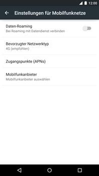 Motorola Google Nexus 6 - Netzwerk - Netzwerkeinstellungen ändern - 6 / 8
