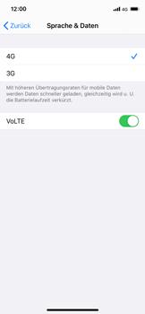 Apple iPhone XS - iOS 14 - Netzwerk - So aktivieren Sie eine 4G-Verbindung - Schritt 7