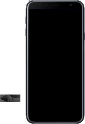 Samsung Galaxy J4 Plus - Toestel - Simkaart plaatsen - Stap 6