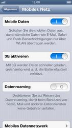 Apple iPhone 5 - Internet und Datenroaming - Deaktivieren von Datenroaming - Schritt 6