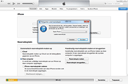 Apple iPhone 5 - Software - Back-up maken of terugplaatsen - Stap 6
