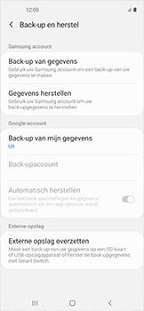 Samsung galaxy-xcover-pro-sm-g715fn - Instellingen aanpassen - Back-up maken in je account - Stap 6