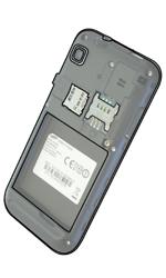 Samsung I9001 Galaxy S Plus - SIM-Karte - Einlegen - Schritt 3