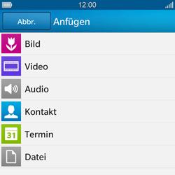 BlackBerry Q10 - MMS - Erstellen und senden - 12 / 16