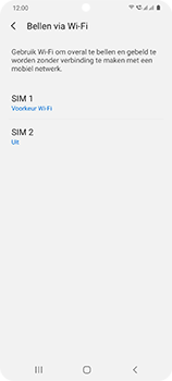 Samsung Galaxy S20 5G Dual-SIM eSIM SM-G981B - Bellen - WiFi Bellen (VoWiFi) - Stap 8