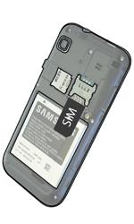 Samsung I9001 Galaxy S Plus - SIM-Karte - Einlegen - Schritt 4
