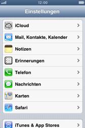 Apple iPhone 4S - Apps - Konfigurieren des Apple iCloud-Dienstes - Schritt 3