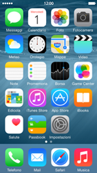 Apple iPhone 5c iOS 8 - Risoluzione del problema - Display - Fase 1