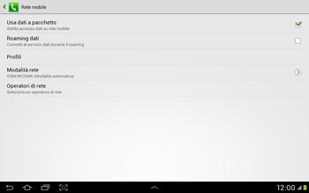 Samsung Galaxy Tab 2 10.1 - Internet e roaming dati - Disattivazione del roaming dati - Fase 7