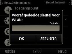 Nokia E6-00 - wifi - handmatig instellen - stap 11