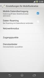 Sony Xperia Z1 - Internet und Datenroaming - Deaktivieren von Datenroaming - Schritt 7