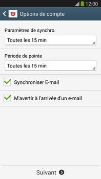 Samsung Galaxy Note III LTE - E-mail - configuration manuelle - Étape 17