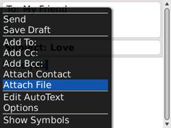 BlackBerry 8520 Curve - E-mail - Sending emails - Step 9