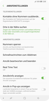 Samsung Galaxy S9 Plus - Anrufe - Anrufe blockieren - 6 / 12