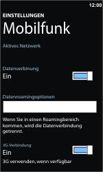 Nokia Lumia 800 - Ausland - Im Ausland surfen – Datenroaming - Schritt 7