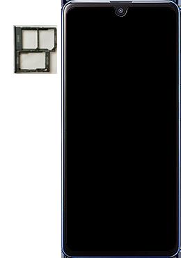 Samsung Galaxy A41 - Premiers pas - Insérer la carte SIM - Étape 3