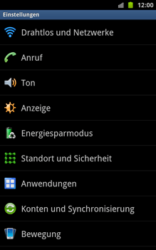Samsung N7000 Galaxy Note - WLAN - Manuelle Konfiguration - Schritt 4