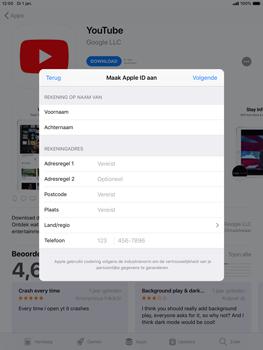 Apple ipad-mini-5-7-9-inch-2019-model-a2124 - Applicaties - Account aanmaken - Stap 20
