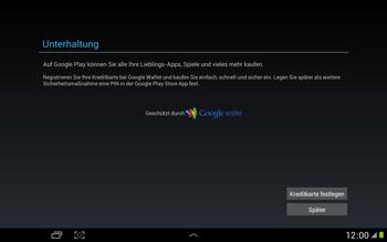 Samsung N8000 Galaxy Note 10-1 - Apps - Konto anlegen und einrichten - Schritt 14