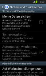 Samsung Galaxy Trend Lite - Gerät - Zurücksetzen auf die Werkseinstellungen - Schritt 5