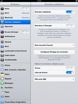Apple iPad Retina - Internet et roaming de données - Désactivation du roaming de données - Étape 5