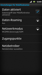 Sony Xperia U - Ausland - Im Ausland surfen – Datenroaming - Schritt 8