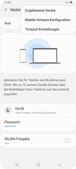 Samsung Galaxy A80 - WiFi - So aktivieren Sie einen WLAN-Hotspot - Schritt 8