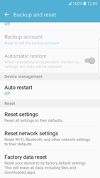 Samsung Galaxy S7 Edge - Mobile phone - Resetting to factory settings - Step 6
