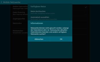 Samsung T805 Galaxy Tab S - Netzwerk - Manuelle Netzwerkwahl - Schritt 7
