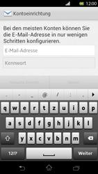 Sony Xperia T - E-Mail - Konto einrichten - Schritt 5