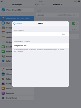 Apple iPad mini 2 - iOS 11 - E-mail - Account instellen (IMAP zonder SMTP-verificatie) - Stap 19