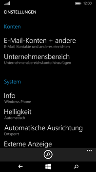 Microsoft Lumia 640 XL - E-Mail - Konto einrichten - Schritt 4