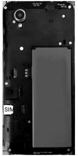 Alcatel 1 - Premiers pas - Insérer la carte SIM - Étape 3