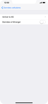 Apple iPhone XS Max - Internet et roaming de données - Désactivation du roaming de données - Étape 6