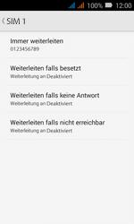 Huawei Y3 - Anrufe - Rufumleitungen setzen und löschen - Schritt 10