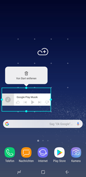 Samsung Galaxy Note 8 - Startanleitung - Installieren von Widgets und Apps auf der Startseite - Schritt 9