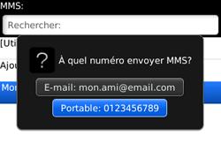 BlackBerry curve 3G - Contact, Appels, SMS/MMS - Envoyer un MMS - Étape 7
