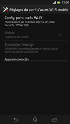 Sony Xpéria SP - Internet et connexion - Partager votre connexion en Wi-Fi - Étape 11