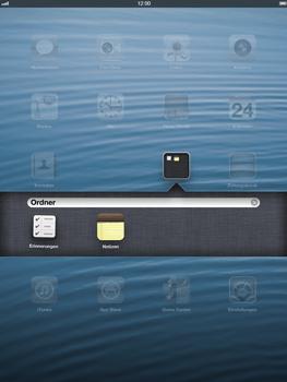 Apple iPad Retina iOS 7 - Startanleitung - Personalisieren der Startseite - Schritt 6