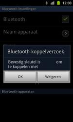 Samsung I8530 Galaxy Beam - bluetooth - headset, carkit verbinding - stap 8
