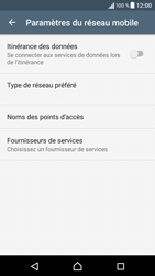 Sony Xperia XA - Internet et roaming de données - Désactivation du roaming de données - Étape 7