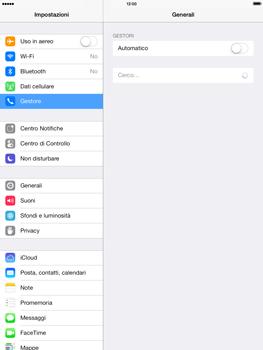 Apple iPad mini iOS 7 - Rete - Selezione manuale della rete - Fase 5