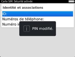 BlackBerry 9320 - Sécuriser votre mobile - Personnaliser le code PIN de votre carte SIM - Étape 12