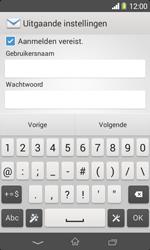 Sony D2005 Xperia E1 - E-mail - Account instellen (POP3 zonder SMTP-verificatie) - Stap 13