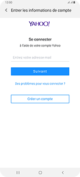 Samsung Galaxy A80 - E-mail - 032b. Email wizard - Yahoo - Étape 7
