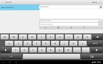 Sony Xperia Tablet Z LTE - MMS - Erstellen und senden - Schritt 13