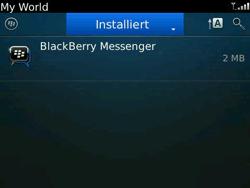 BlackBerry Bold - Apps - Konto anlegen und einrichten - 17 / 19