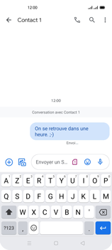 Oppo Reno 4 - Contact, Appels, SMS/MMS - Envoyer un SMS - Étape 13