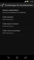 Sony Xperia L - Anrufe - Rufumleitungen setzen und löschen - 8 / 9
